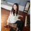RJ.Story เสื้อแฟชั่นคอวีแขนยาวสีขาวผ้าซีฟองเกาหลี thumbnail 4
