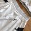 เซ็ตเสื้อชีฟองลายจุดหัวใจตกแต่งริบบิ้นและกางเกงขาสั้น thumbnail 5