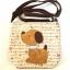 ** พร้อมส่งค่ะ ** กระเป๋าสะพายข้าง ลายหมาน้อย สีน้ำตาล thumbnail 1