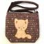 ** พร้อมส่งค่ะ ** กระเป๋าสะพายข้าง ลายแมวน้อย สีน้ำตาล thumbnail 1