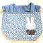 ** พร้อมส่งค่ะ ** กระเป๋าหูรูด ลายกระต่าย สีฟ้า thumbnail 3
