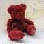 หมีนั่งสีแดงเข้ม สูง 25 ซม. thumbnail 1