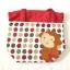 ** พร้อมส่งค่ะ ** กระเป๋าหูรูด ลายลิงน้อย สีแดง thumbnail 3