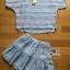 เซ็ตเสื้อผ้าลูกไม้และมินิสเกิร์ตผ้าชีฟองสีขาว thumbnail 5