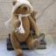 ตุ๊กตาหมีผ้าขนสีน้ำตาลกลางขนาด 19 cm. - Lilac thumbnail 5