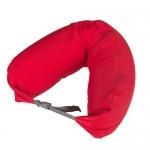 หมอนรองคอ #04 : สีแดง ผ้ายืดไลก้า (Red lycra)