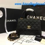 Chanel Medium Coco 10.5 Handle Bag black caviar