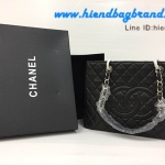 Chanel GST Cavier GHW หนังคาเวียร์สีดำ หนังแท้งานเกรดดีที่สุด อะไหล่สีเงิน