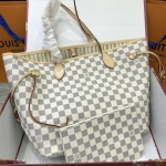 กระเป๋าแบรนด์LOUIS VUITTON neverfull Damier Azur Canvas.