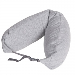 หมอนรองคอ #10 : สีเทาควันบุหรี่ ผ้าคอตตอน (Light gray cotton)