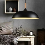โคมไฟห้อยเพดานนอร์ดิกหัวไม้ 45cm Black