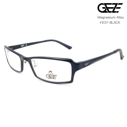แว่นตาผู้ชาย โลหะ Magnesium น้ำหนักเบา ใส่สบาย GEZE SABER รุ่น F237 สีดำ อายุการใช้งานยาวนาน ด้วยโลหะ Aluminium Magnesium Alloy