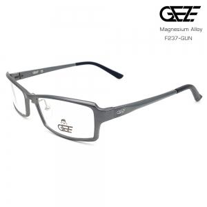 แว่นตาผู้ชาย โลหะ Magnesium น้ำหนักเบา ใส่สบาย GEZE SABER รุ่น F237 สีเทาเข้ม อายุการใช้งานยาวนาน ด้วยโลหะ Aluminium Magnesium Alloy